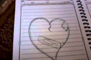 صوره كيفية رسم قلب حب