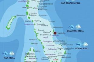 صوره خريطة جزر المالديف ومعلومات عنها