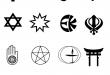 بالصور اهم الديانات لجميع الفنانات 16 religionist symbols 110x75