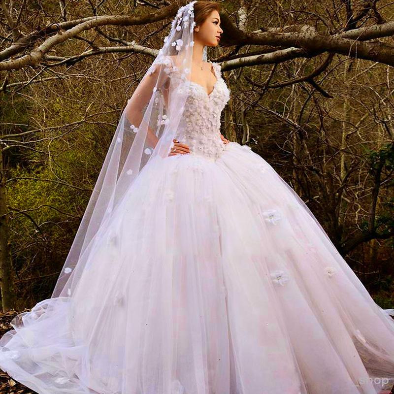 صوره فساتين زفاف سندريلا 2017