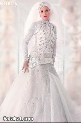 صوره فساتين زفاف للمحجبات لهاني البحيري