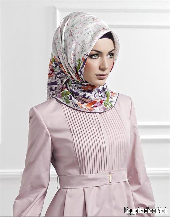 صورة حجاب مودرن 2020 احدث صيحات الحجاب 2020 , تحرص كل الفتيات على هذه اللفة للحجاب