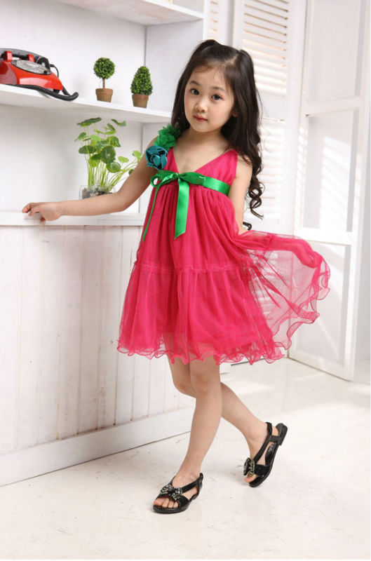 بالصور موديلات فساتين صغار حلوه 2013 Free shipping Summer children Party dress girls Princess pretty dresses girls lace dress