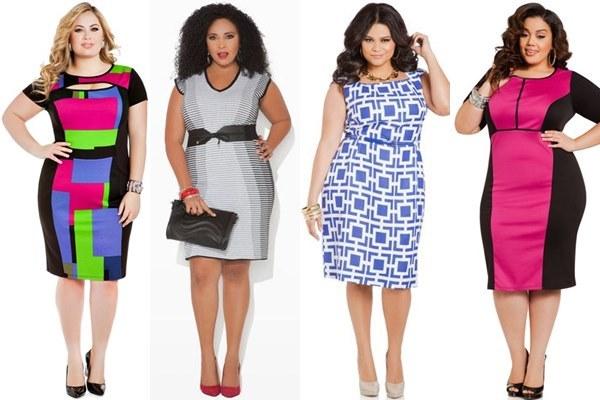بالصور فساتين كاجوال للسمينات 2014 Plus Size Wedding Guest Dresses by Ashley Stewart