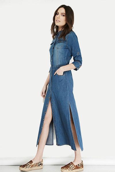 فساتين جينز قصيرة  للبنات