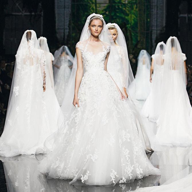 صوره فساتين زفاف طوني يعقوب 2018
