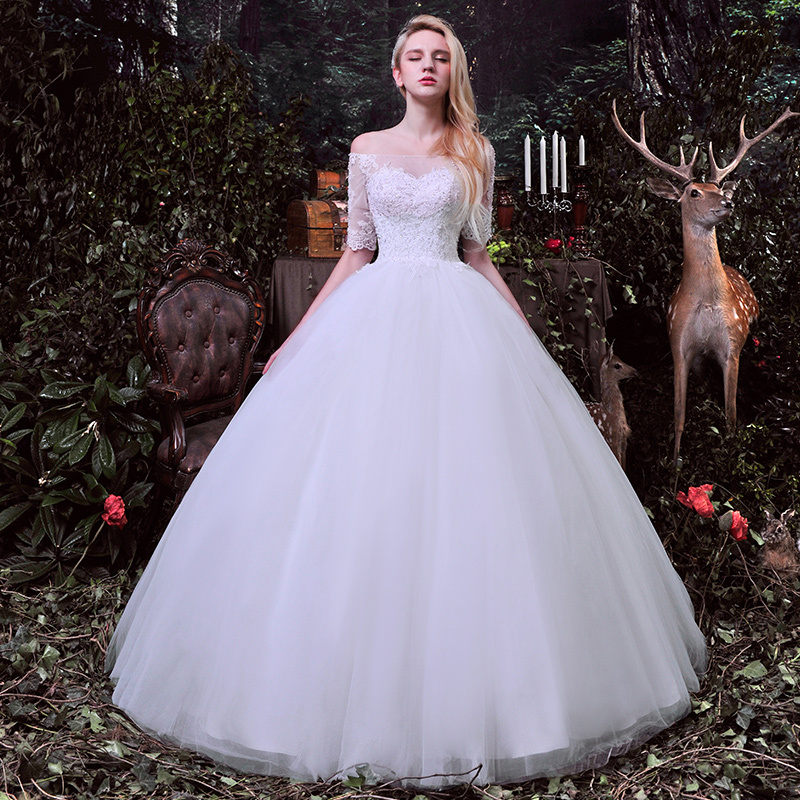 صورة فساتين زفاف سندريلا 2020