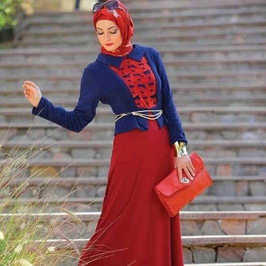 صورة محجبة مودرن كشخه محجبة مودرن بسيطه , لمسات بسيطة وروعة جدا للمحجبات