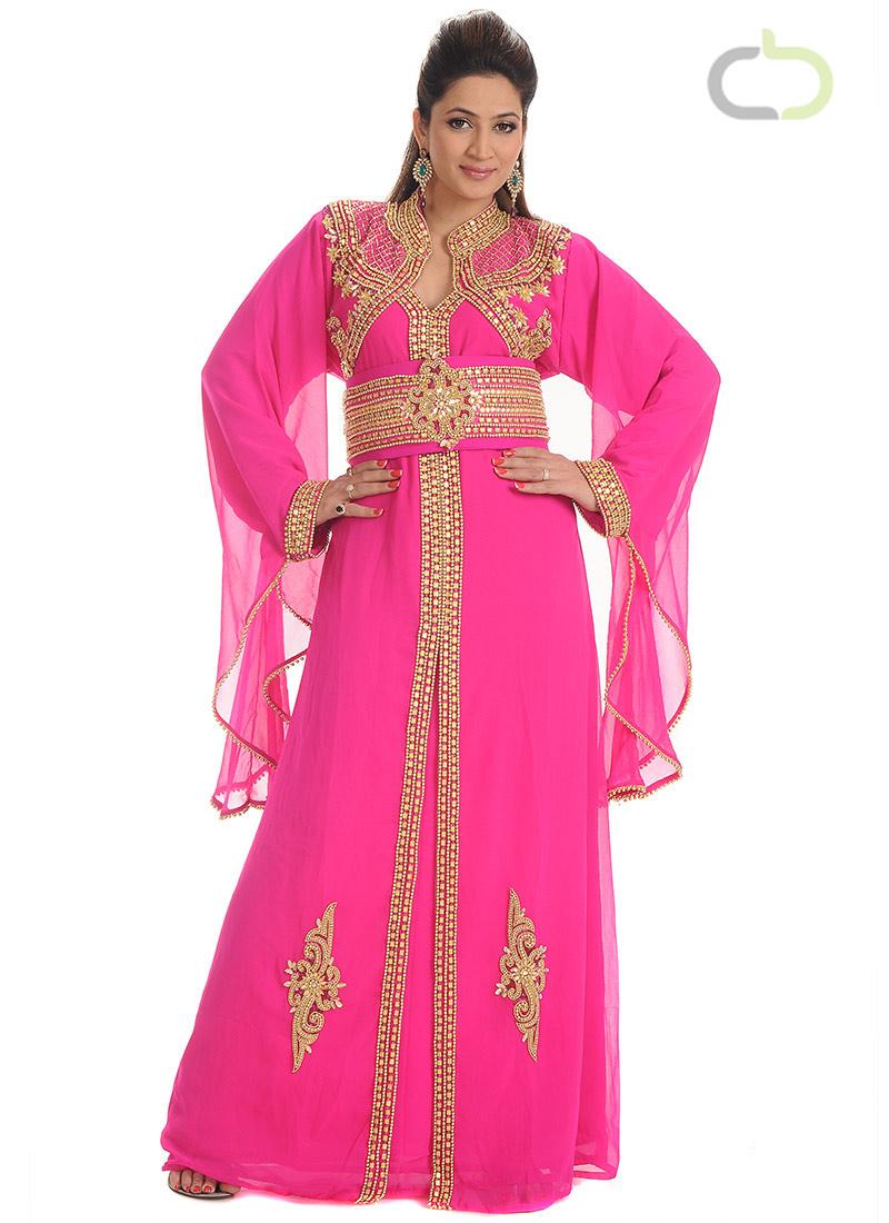 صورة فساتين سهرة هندية للمحجبات , الساري الهندي اروع صيحات حفلات الحنة المصرية للمحجبات