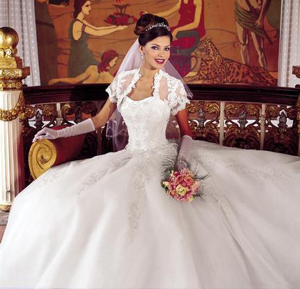 بالصور فساتين زفاف صالون روزيت 20160522 898