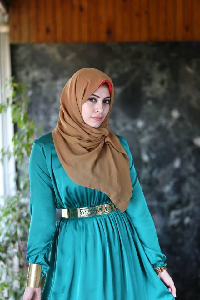 صوره فساتين طويلة للحجاب 2019 ملابس محجبات شيك 2019