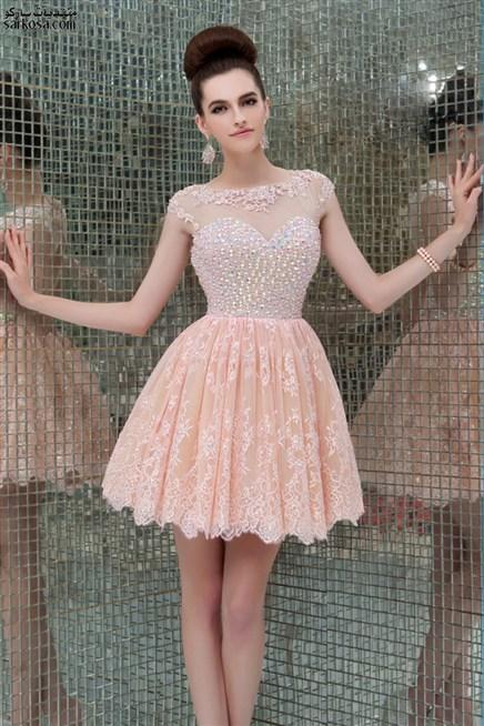 اليك هَذا ألموديل ألمميز لفستان قصير منفوش بِاللون ألزهري