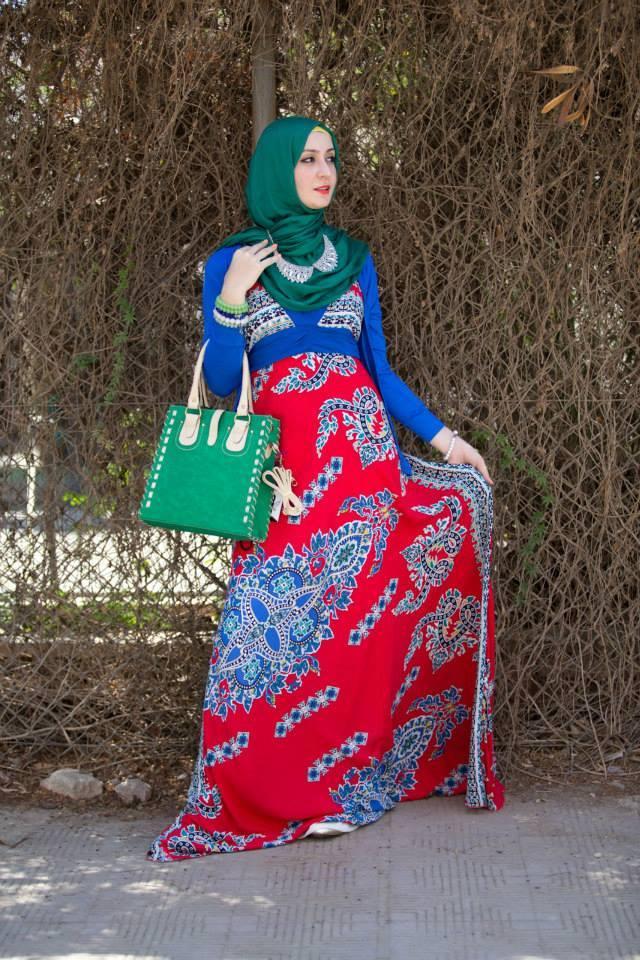 بالصور حجاب باحمل الالوان 2019 ملابس محجبات محترمة 2019 20160524 1257