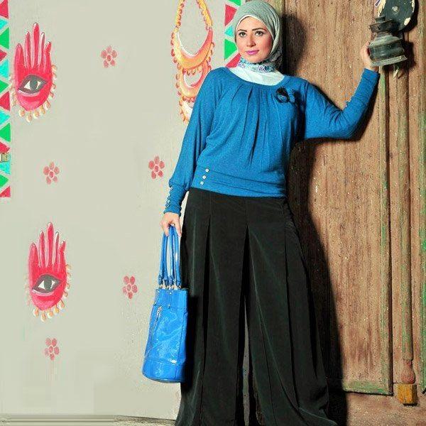 صوره موضة محجبات شيك 2017 اجمل موديلات حجاب للعيد 2017