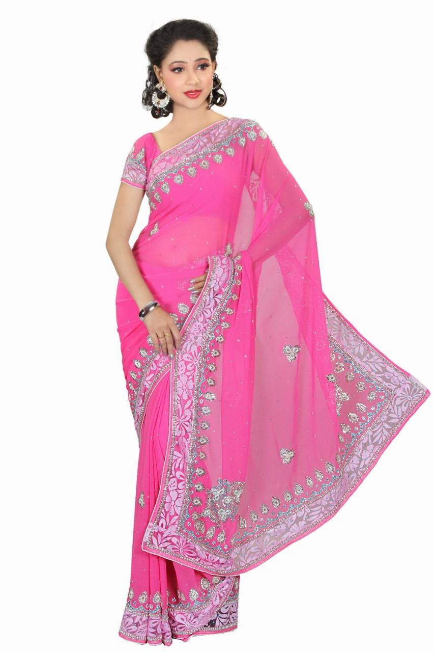 صورة فساتين هندية ساري 2020 , موضة عرائس هندية انيقة