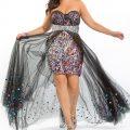 فستان ترتر ملون للبدينات
