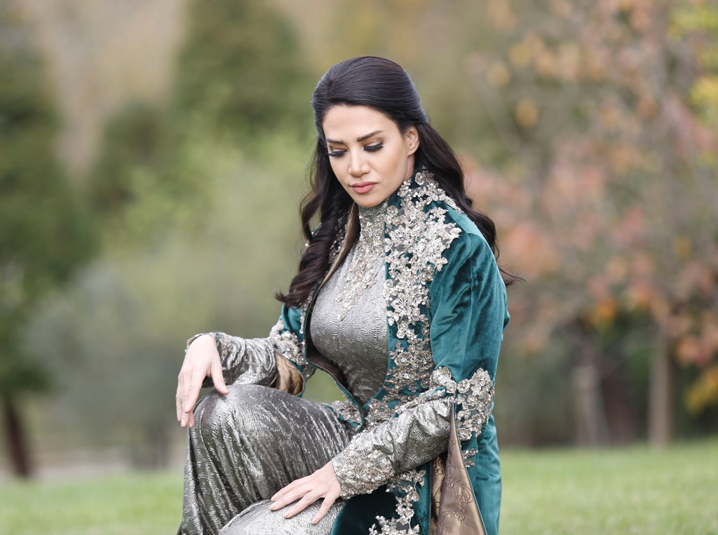 صوره فستان 2018 فستان ديانا حداد الاخضر 2018