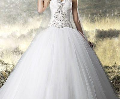 بالصور فساتين زفاف دانتيل منفوشه 29372 400x330