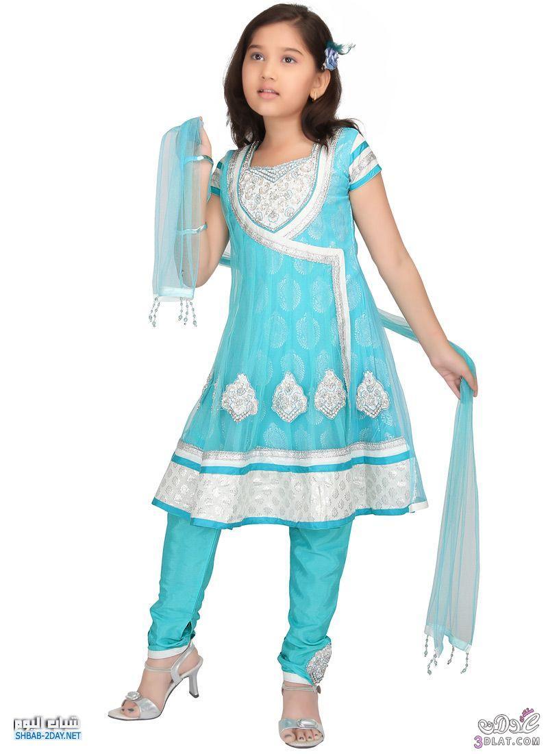 صور فساتين هندية للبنات الصغار