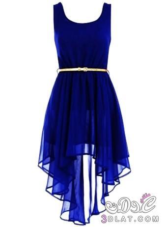 بالصور فساتين جميلة للبنات فساتين سهرة شيك 3dlat.net 03 15 80c1 asymmetric royal blue dress belted dress for girls t83413 1