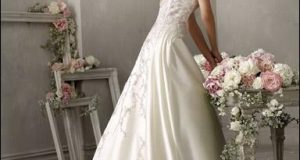 صوره فساتين زفاف للمحجبات اوف وايت