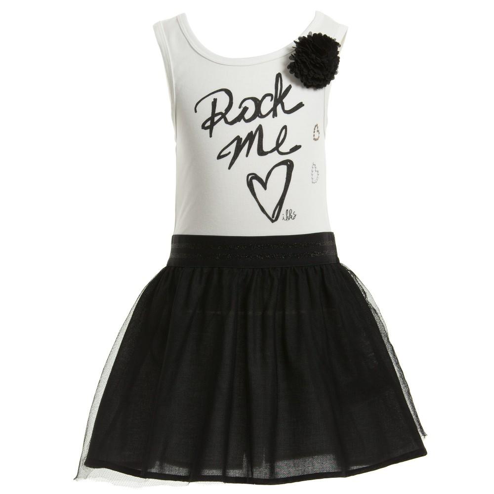 بالصور اجمل فساتين بناتي باللون الاسود فساتين بنات انيقه Black and White Dress 1