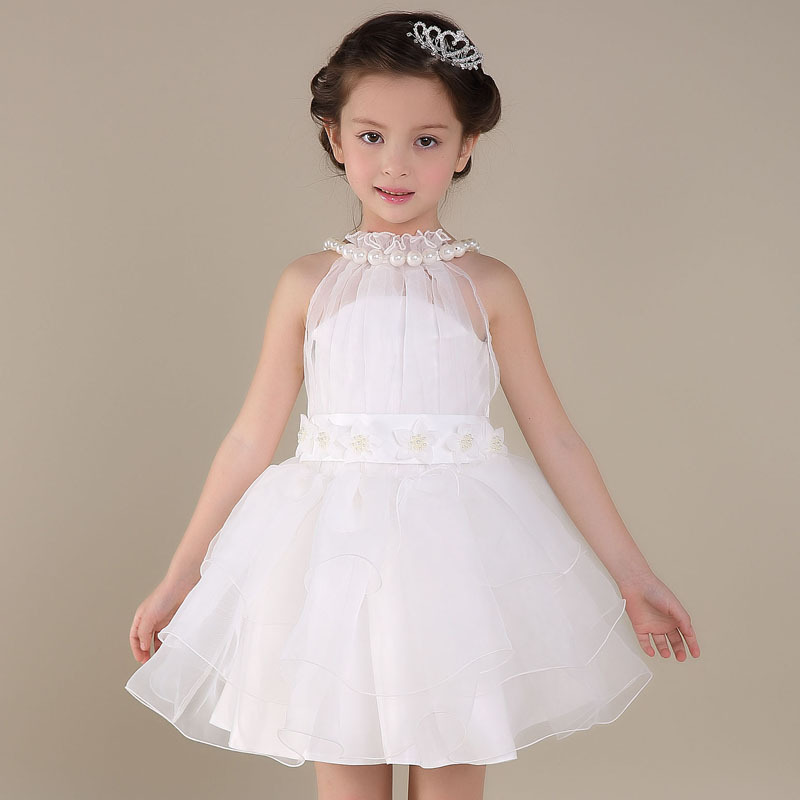 بالصور فساتين بنات صغار للافراح Cute Toddler Elegant Baby Girls Party font b Dress b font 2016 Children Sleeveless font b