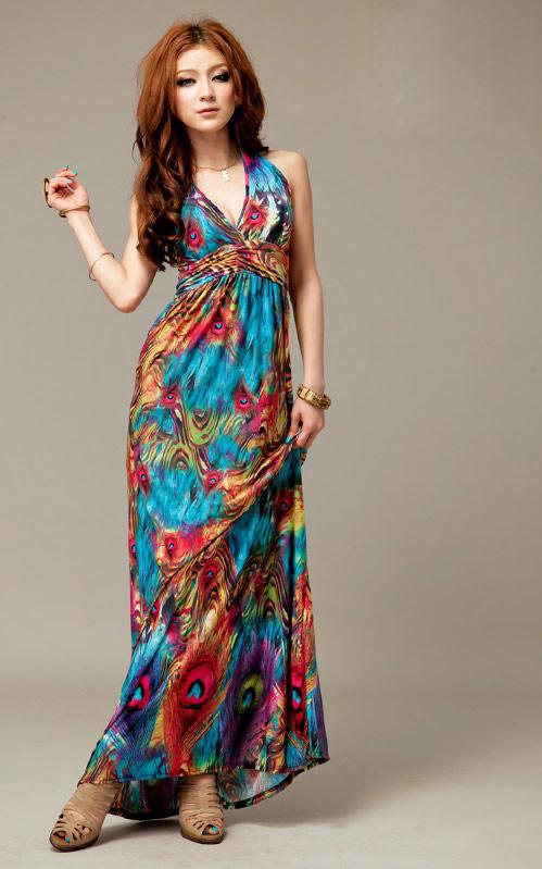 بالصور فساتين طويلة عادية للخروج Maxi dresses bba 7