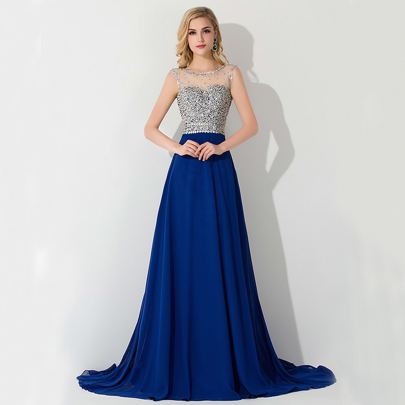 New-Fashion-Sleeveless-Long-Royal-Blue-Evening-Dresses-2015-With-Beads-and-Sequins-For-Women-Chiffon