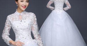 صوره فساتين زفاف كورية 2017