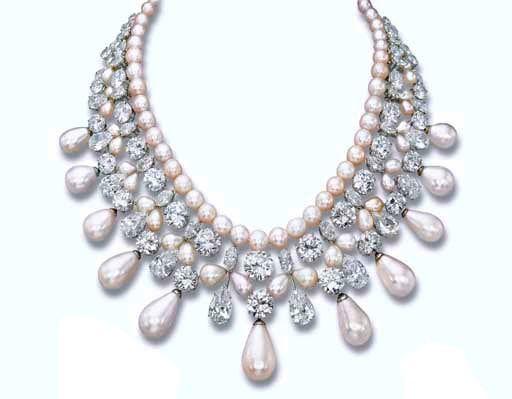 بالصور اكسسوارات هاري ونستون مجوهرات هاري ونستون مجوهرات harry winston gulf pearl necklace wedding jewelry pinterest