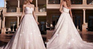 صوره فساتين زفاف تحفة فستان ليلة العمر