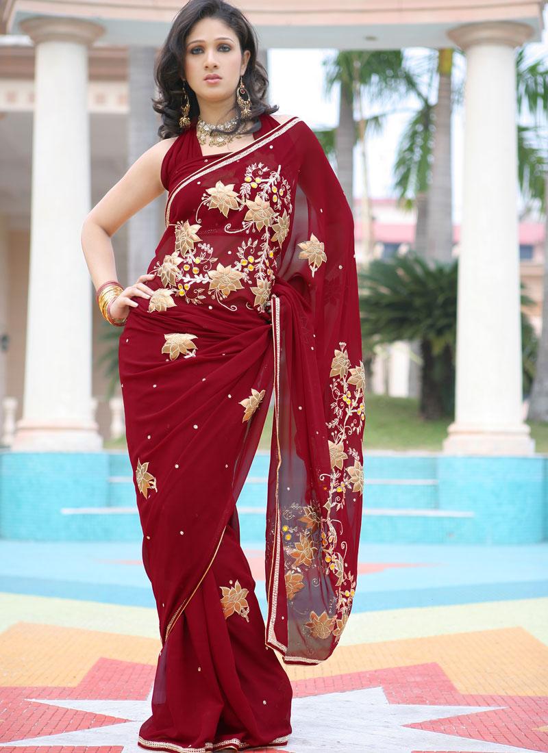 بالصور ازياء هندية 2019 ارقى الملابس الهندية للبيوت 2019 red sari