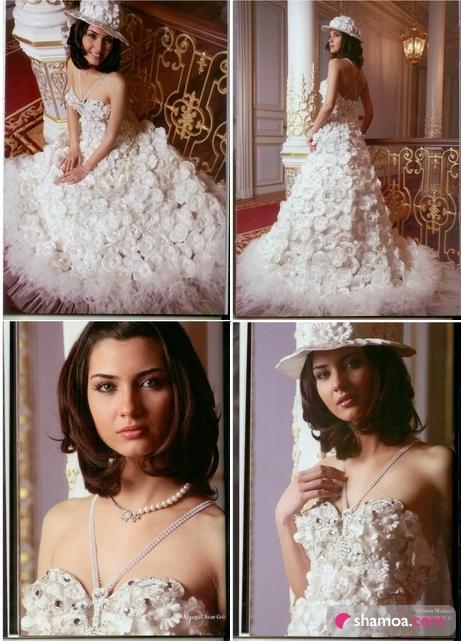 صور فساتين زفاف تعرضها الممثلة التركية توبا