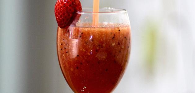 صوره طريقة عصير الفراولة