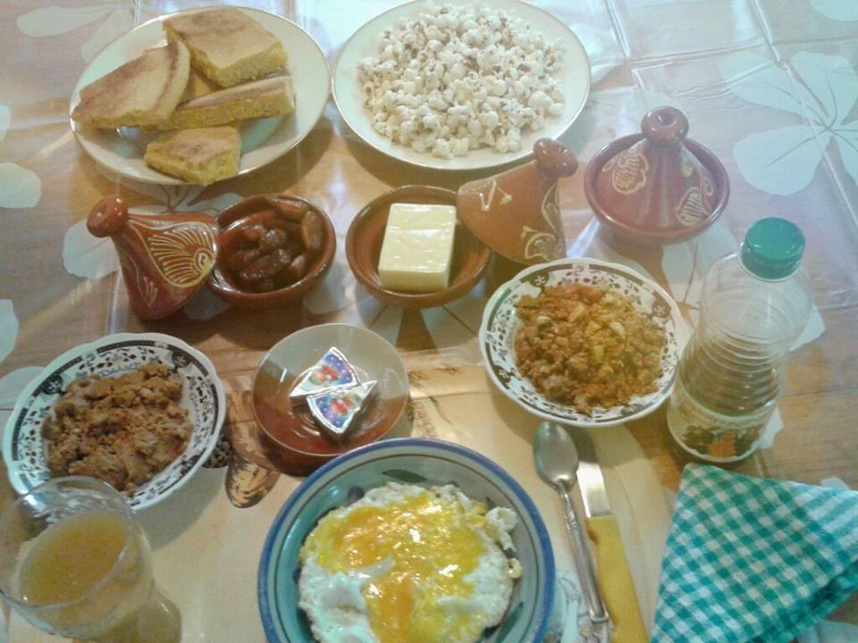 صوره مكونات الفطور الصباحي في المغرب