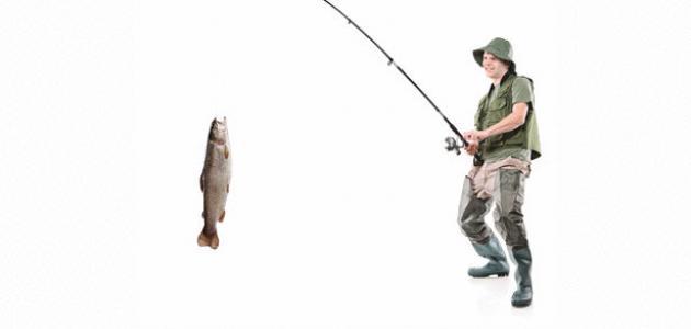 صور صنع سنارة صيد السمك