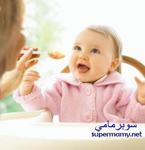 صوره اكل الطفل في الشهر السابع
