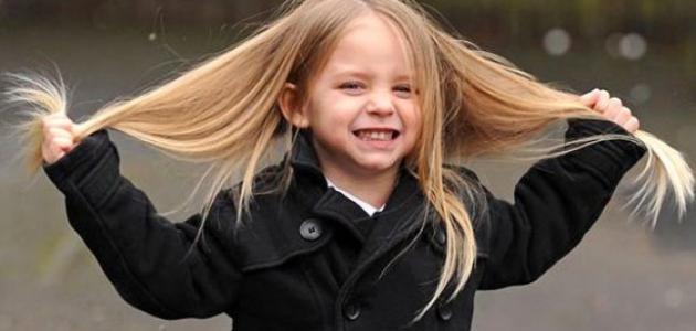 طرق تنعيم شعر الاطفال