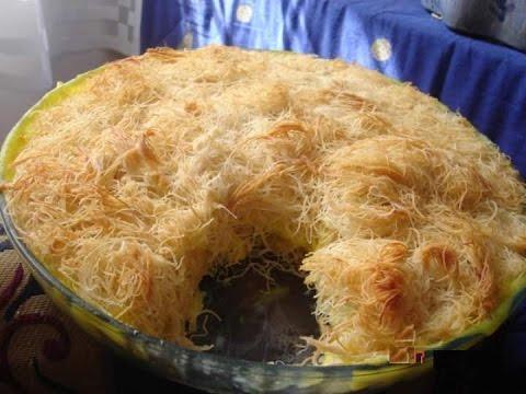 صور طريقة عمل عجينة الكنافة في البيت
