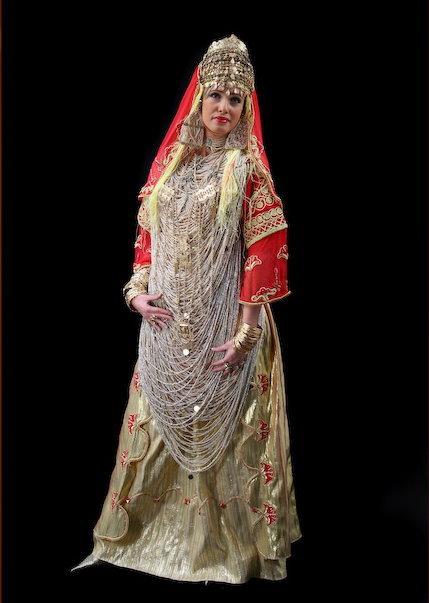 بالصور فساتين سهرة جزائرية تقليدية 20160617 116