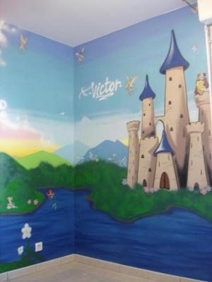 صوره رسومات جدران غرف اطفال
