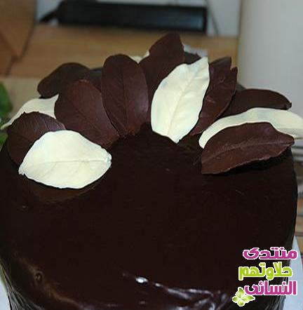 بالصور طريقة تزيين الكيك بالشوكولاته 20160624 140