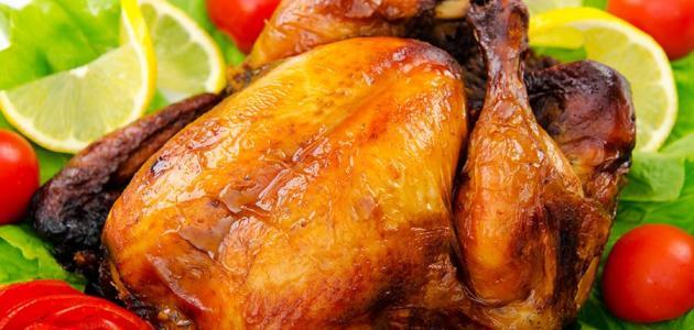 طريقَة عمل الدجاج المشوي