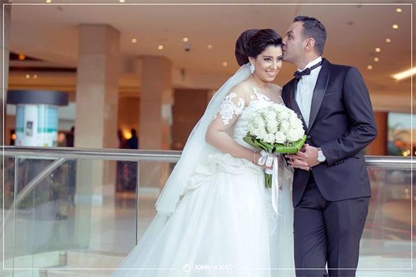 صورة اجمل صور زفاف مع اجمل لحظات احتفالات الافراح , مشاهير بفستان الفرح المبهرة