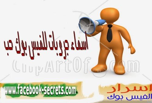 صورة اسماء جروبات جميلة على الفيس بوك