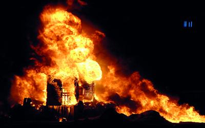 صوره تفسير حلم النار بالبيت