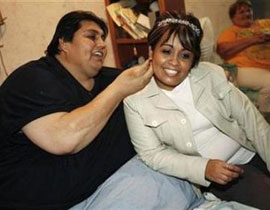 صوره زواج اسمن رجل في العالم