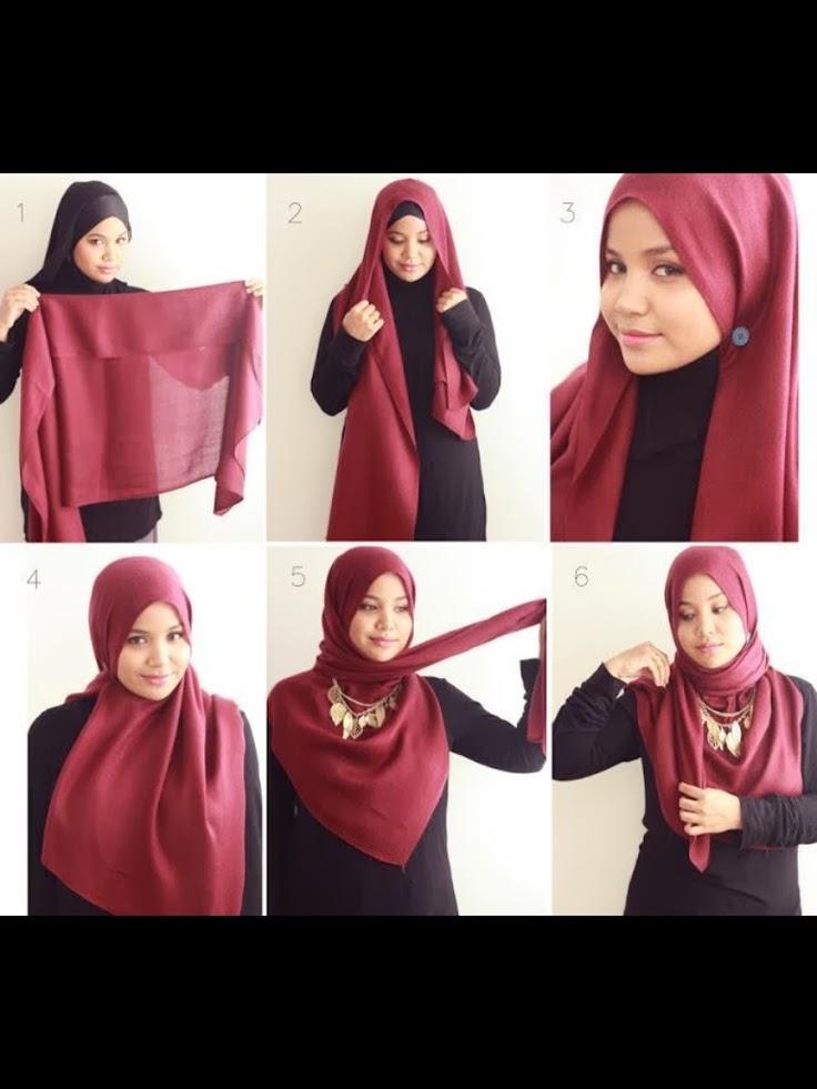 صور كيفية استعمال الحجاب للمحجبات