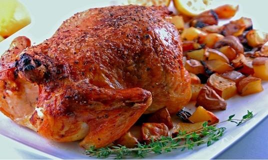 صور السعرات الحرارية في الدجاج المشوي